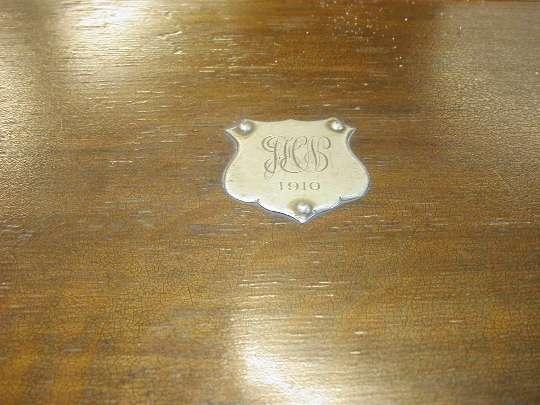 カードキャビネット(トップ・1910真鍮プレート貼)